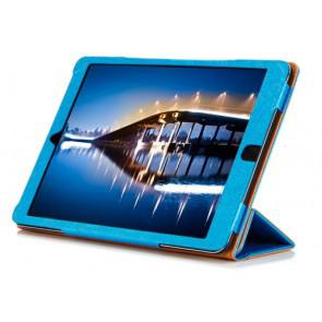 Original Cube i6 Tablet PC Leather Case Steel Wire Edge Stand Cover Blue