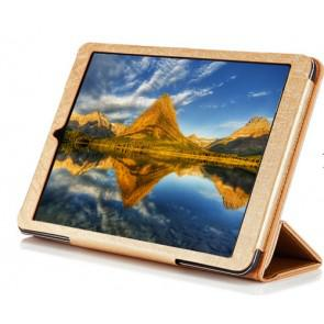Original Cube i6 Tablet PC Leather Case Steel Wire Edge Stand Cover Gold