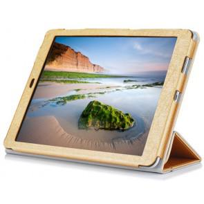 Original Cube T9 4G 9.7 Inch Tablet Protective Shell Leather Case Steel Wire Texture Gold