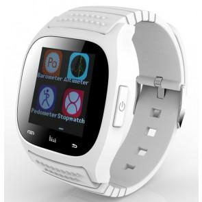 Rwatch M26S Bluetooth Smart Watch IP57 with LED Display Dial Pedometer Music Player for iPhone Android White