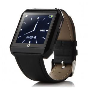 RWATCH R6S Bluetooth 4.0 Wearable Smart Watch Hands-Free Call Pedometer Sleep Compass for iPhone Android Black