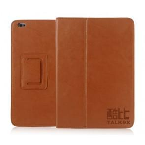 Cube Talk 9X Original Leather Case Stand Cover Brown