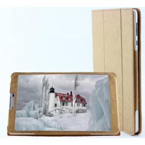 Original Leather Case Stand Cover for Teclast P80 3G 8 Inch Tablet Gold