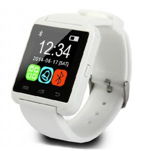 U8 U Watch Bluetooth Smart WristWatch for iPhone Samsung HTC LG Android Smartphones White