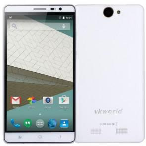VKworld VK6050 MTK6735 Android 5.1 4G LTE Smartphone 1GB 16GB 5.5 Inch 6050mAh 13MP Camera White