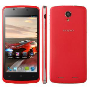 ZOPO ZP590 MTK6582 Quad Core Android 4.4 3G WIFI 4.5 Inch Smartphone 5MP camera Red