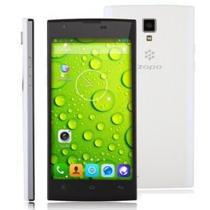 ZOPO ZP780 MTK6582 quad core Smartphone 1GB 4GB Android 4.2 5.0 Inch 8MP camera White