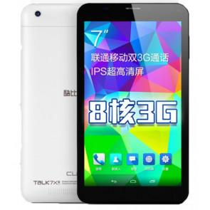 Cube Talk 7X 3G MTK8392 Octa Core Android 4.4 7 Inch Phablet 1GB 8GB Dual Camera GPS Black & White