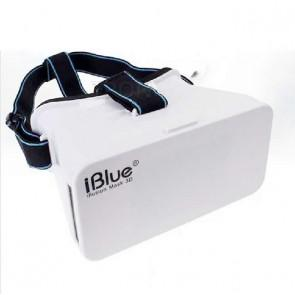 iBlue V1 Universal 3D VR Virtual Reality Headset FOV 75 3D video and game Headset for 3.5-5.5 Smartphones White