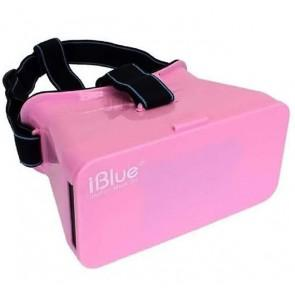 iBlue V1 Universal 3D VR Virtual Reality Headset FOV 75 3D video and game Headset for 3.5-5.5 Smartphones Pink