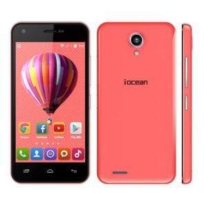 Iocean X1 Android 4.4 MTK6582M quad core 4.5 Inch Smartphone 1GB 8GB 8MP camera 3G WiFi Red