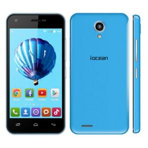 Iocean X1 MTK6582 quad core Android 4.4 4.5 Inch Smartphone 8GB ROM 8MP camera 3G WiFi Blue