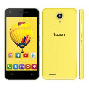 Iocean X1 3G MT6582M quad core Android 4.4 4.5 Inch Smartphone 1GB 8GB 8MP Camera WiFi OTG Yellow