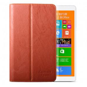 Teclast X80h Origianl PU Leather Case Bark Grain Stand Cover Brown