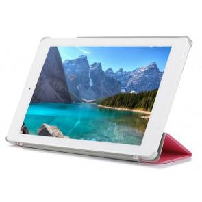 Original Three Fold Protective PU Leather Case Cover for Teclast X90HD Windows 8.1 Tablet Pink