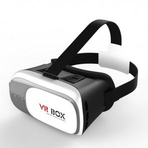 VR Box 2 Virtual Reality Goggles 3D Game Movie Headset with Bluetooth Remote Control and Toughened Glass for 3.5 - 6.0 inch Smartphones