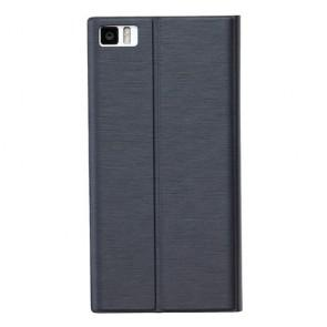 Xiaomi Mi3 Original Silk Flip Stand Cover Case Black