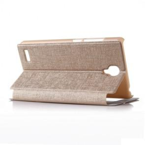 Xiaomi Hongmi Note Original Leather Flip Cover Case Stand Case Golden