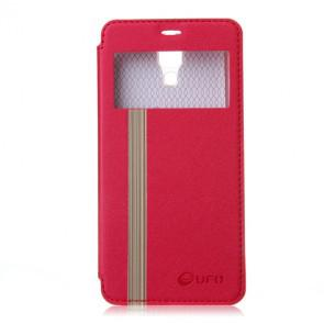 Original Leather Flip Cover Case Stand Case for XIAOMI MI4 Smartphone Red