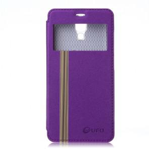 Original Leather Flip Cover Case Stand Case for XIAOMI MI4 Smartphone Purple